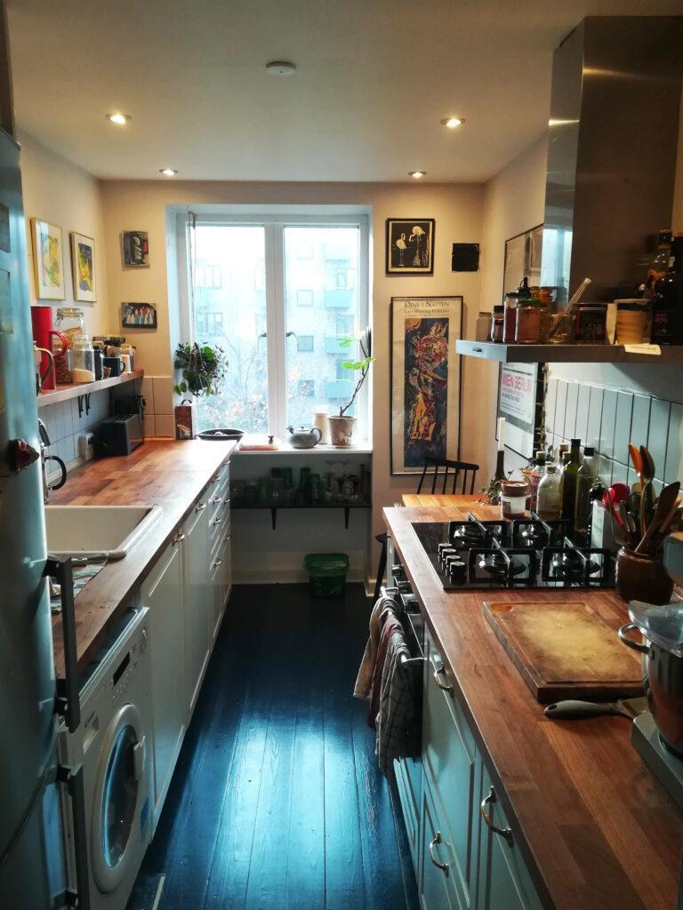 Køkken opsat af tømrermester Niels Gimbel