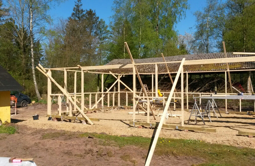 Kontruktion til ny garage - tømrermester Niels Gimbel
