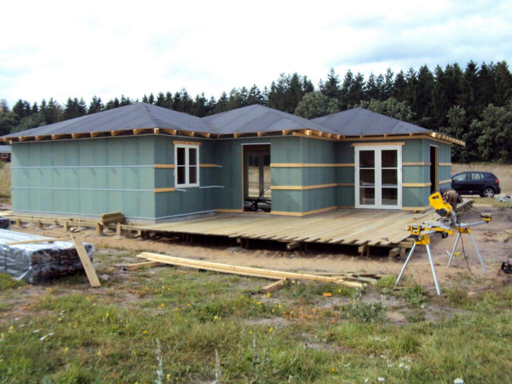kontruktion til nyt sommerhus - tømrermester Niels Gimbel